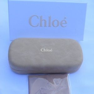 NEW CHLOE Suede Leather Sunglasses HARD Case